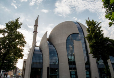 Cologne's Central Mosque run by German-Turkish organization DITIB is pictured on June 24, 2016 in Cologne, western Germany. / AFP / MAJA HITIJ        (Photo credit should read MAJA HITIJ/AFP/Getty Images)